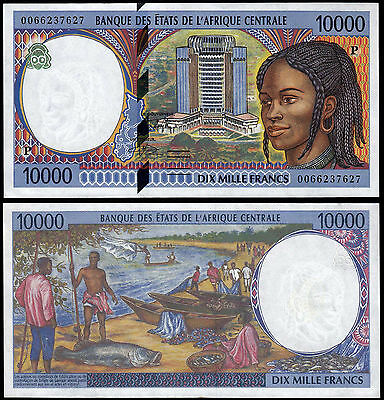 CENTRAL AFRICAN STATES 10000 FRANCS (P605Pf) 2000 CHAD AU/UNC