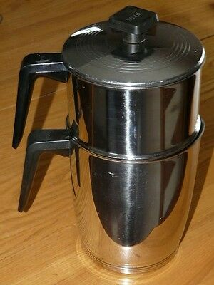 Vintage 8 Cup RENA WARE Stainless Steel DRIP Coffee Pot Maker Complete!