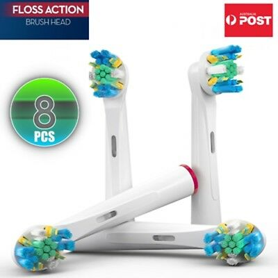 4 x Oral B Compatible Electric Toothbrush Replacement Brush Heads Flexisoft