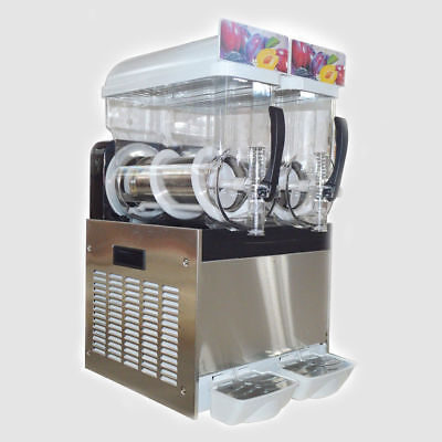 NEW! Commercial Frozen Slush Drink Making Machine with 2 Tanks&Smoothie Maker