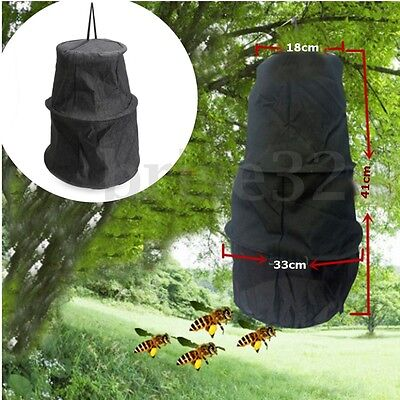 3 Layers Beekeeping Tools Bee Cage To Catch With Bees Wild Recruit Black 41cm