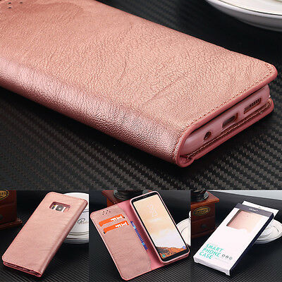 For Samsung Galaxy S8 Plus Luxury Flip Leather Wallet Shockproof Case Soft Cover