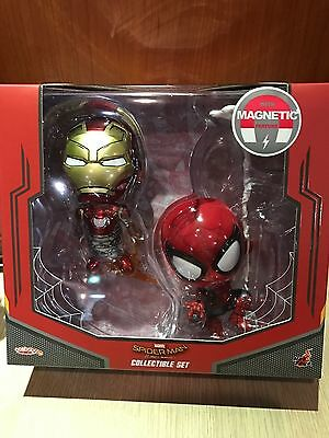 Hot Toys Spider man spiderman and iron man mark 47 Cosbaby set (2 pcs figure)