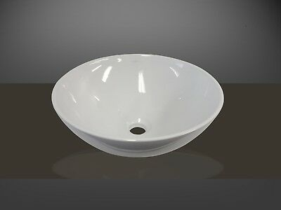 Bathroom Ceramic Round Above Counter Top Basin for Vanity Includes Pop-up Waste