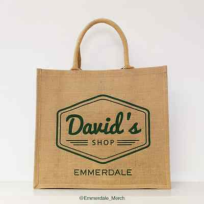 "OFFICIAL Emmerdale ""David's Shop"" Jute Bag"