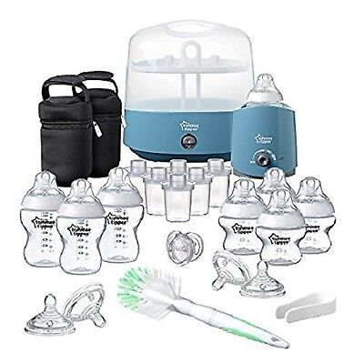 Tommee Tippee Complete Starter kit Feeding Set (Closer to Nature) Cool Blue NEW