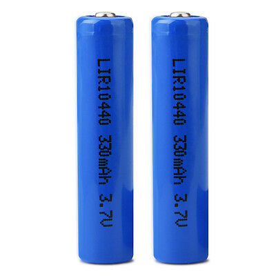 New 1pcs 3.7V 320mAh ICR Li-Ion Rechargeable 10440 Battery Replacement Durable