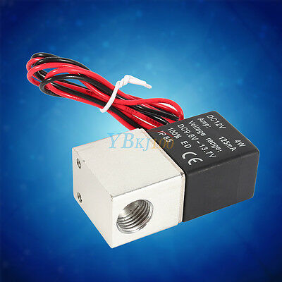 """Closed Pneumatic 1/4"""" 2 Way Normally Electric Solenoid Valve 12V DC High Quality"""