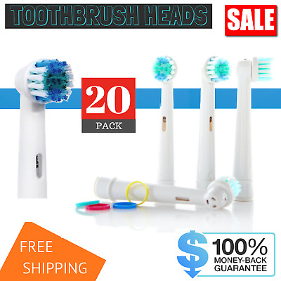 20 Oral B Compatible Electric Toothbrush head Replacement Brush Heads