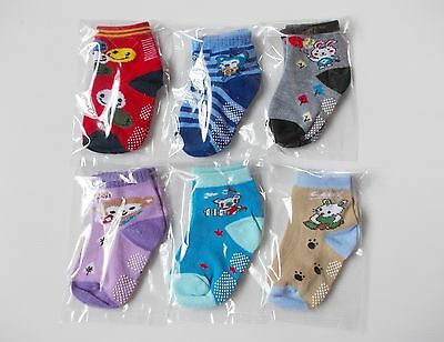 #B249, Small Wholesale 12 PCs/6 Pairs Cotton Baby Socks For Baby Toddler 12-24 M