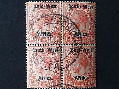 1090]  STAMPS OF  SOUTH AFRICA  S W A  -- 1923  SG 2 - 1d  - FINE USED  BLOCK 4x