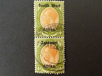 1092]  STAMPS OF  SOUTH AFRICA  S W A  -- 1923  SG 20  4d  PAIR FINE USED