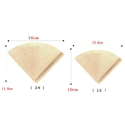 40pcs Thicker Pulp Rare Original Coffee Paper Filter Cone / Sector US