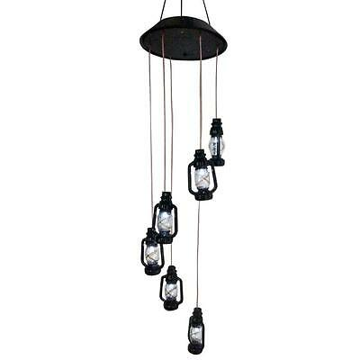 Solar Color-changing Oil Wind Chimes Light Lamp Home Garden Decor
