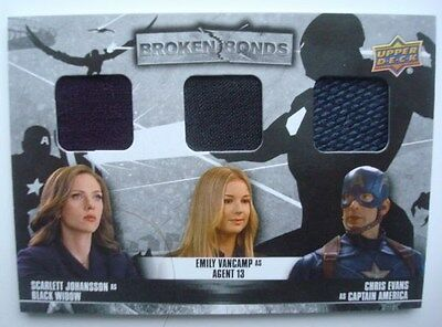 2016 **Captain AMERICA Civil War** SP TRIPLE Costume Card BB-BSC Black WIDOW