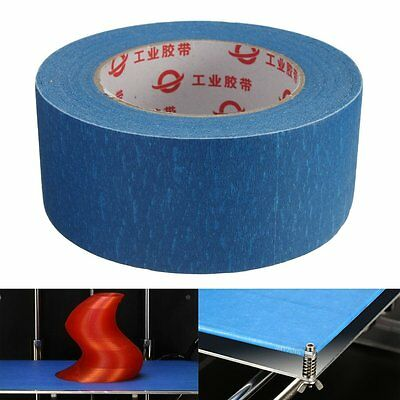 50mmx50m 50mm Wide 3D Printer Blue Tape Reprap Bed Tape Masking Tape For 3D