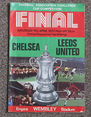 1970 FA Cup Final. Chelsea v Leeds Utd. At Wembley Stadium.