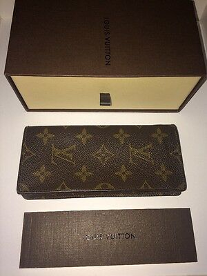 Louis Vuitton Leather Glasses Case/Pouch/Sleeve with Box