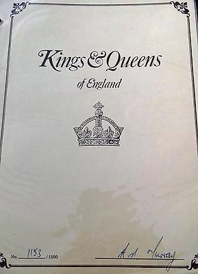 Kings & Queens of England Colorano First Day Covers FDC Limited Edition