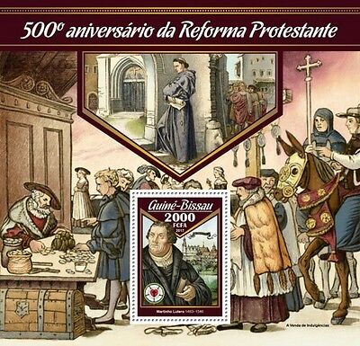 Z08 GB17010b GUINEA BISSAU 2017 500 Years Reformation martin luther MNH **