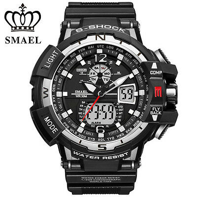 SMAEL Men LED Digital Wristwatch Multifuntional Outdoor Sport Watch Dual Display