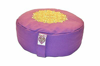Zafu Yoga Meditation Cushion by Om Vita with 100% Organic Buckwheat Fill