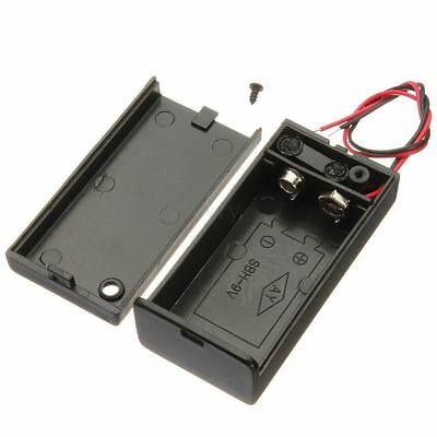 1/2/10x 9V Volt Enclosed Battery Holder Box With ON/OFF Power Switch With Wires