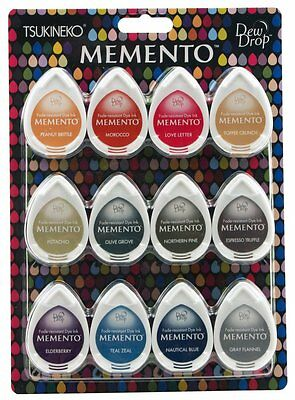 TSUKINEKO Memento SET OF 12 DEW DROP Ink Pads Snow Cones MD-012-300 R