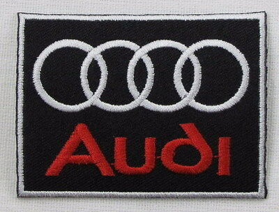 AUDI Motorsport BLACK & RED W Border Iron/sew on embroidered patch n-329