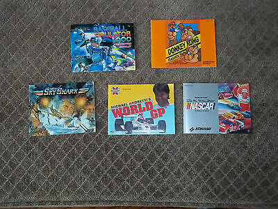 Lot of 5 Nintendo NES Game Manuals Instruction Booklets Donkey Kong Sky Shark