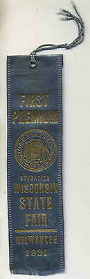 Vintage 1931 BLUE RIBBON Education Wisconsin State Fair