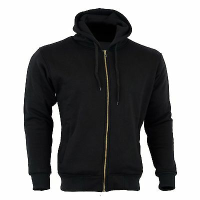 Motorcycle Mens  Hoodie Hoody Full Protective Armour Lined Fleece Protection