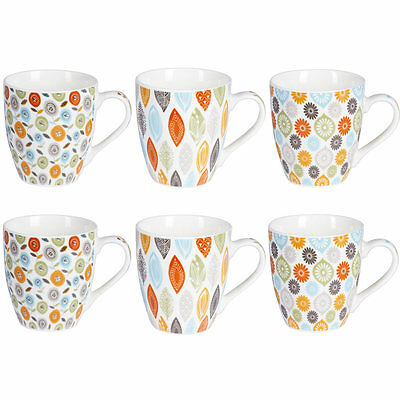 Coffret 6 Tasses 23Cl Jaipur Sixties