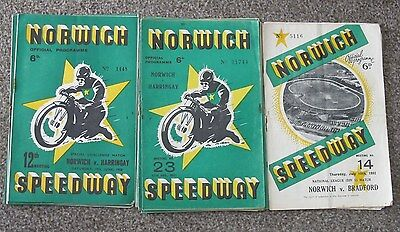 Norwich Speedway Programmes 1950 & 1951.Good selection.
