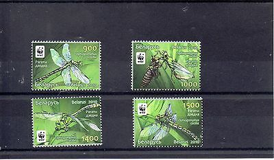 BELARUS  2010 WORLD WILDLIFE FUND SG 824 to 827 MNH - DRAGONFLYS