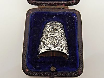 A Very Rare Antique Solid Silver 1897 Queen Victorian Diamond Jubilee Thimble