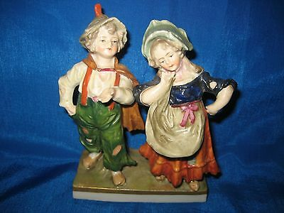 Antique Sitzendorf  Germany Hand Painted Couple Figurine