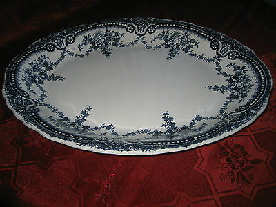 Antigue John Maddock & Sons  Royal Vitreous  Large Platter  c1896