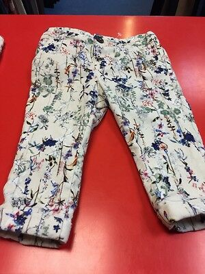 Girls Zara Velour Touch Jeans Trousers 9-12m 2 Available Twins