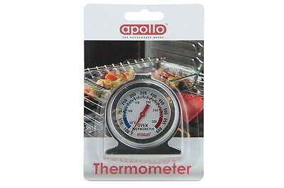 Apollo Stainless Steel Oven Dial Thermometer Kitchen Food Cooking Baking