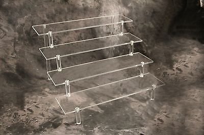 Acrylic Display Stand 4 Tier; Collectible; Plastic; Cake; toys; Office; Jewelry