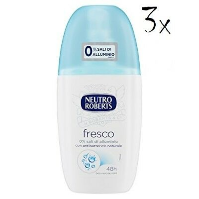 3x NEUTRO ROBERTS blue fresh Fresco Deo deodorant Vapo Natural Spray 75ml