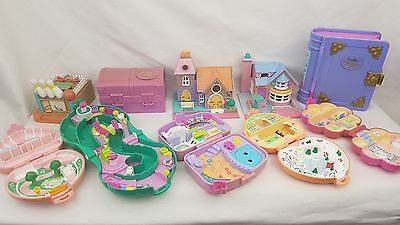 polly pocket bundle 10 × Mix - Cases , Compacts . Houses , bluebird toys
