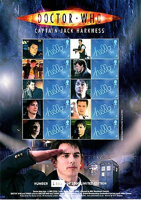 BC-147 - Doctor Who - Captain Jack Harkness - Smilers Stamp Sheet - MNH