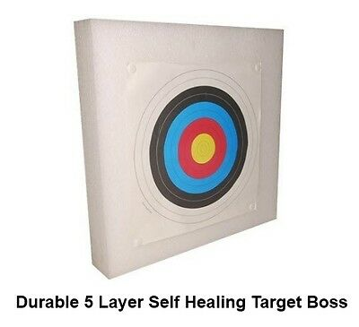 Chunky Self Healing Foam Archery Target Boss 60x60cm Very Durable 5 Layer Thick!