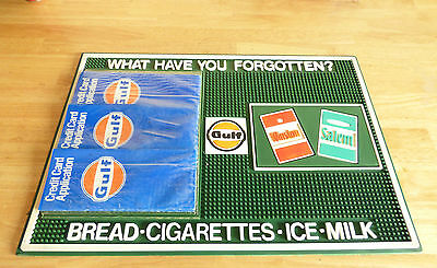 1960 Gulf Salem Winston Gas Station Credit Credit Application Counter Mat NOS