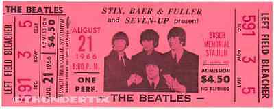 11 1966 THE BEATLES FULL UNUSED CONCERT TICKETS laminated frame reprint set 1