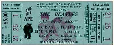 11 1964 THE BEATLES FULL UNUSED CONCERT TICKETS scrapbooking frame reprint set 3