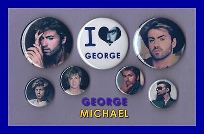 George Michael - Button Badge Collection Set 2 FREEPOST