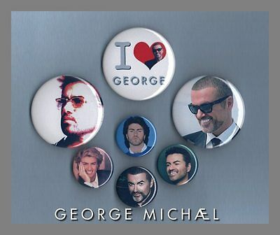 George Michael - Button Badge Collection Set 3 FREEPOST